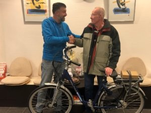 Winnaar fiets hoorn Joosten